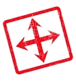 Expand Arrows Icon Rubber Stamp vector image