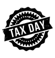 Tax day stamp vector image