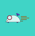flat icon design collection clockwork mouse toy vector image vector image