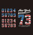 New york set number american vector image