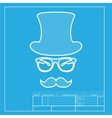 Hipster accessories design White section of icon vector image