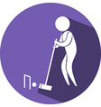 Croquet icon on blue badge vector image