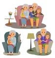 Big Family set vector image