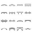Bridge icons vector image