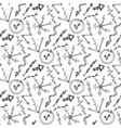 business seamless pattern with doodles arrows and vector image