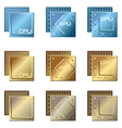 different types of processors vector image