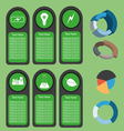 Ecological business green infographic with icons a vector image