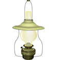 Old green lamp vector image