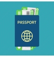 Passport with tickets vector image