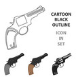 revolver icon cartoon singe western icon from the vector image