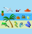 set of summer vacation accessories vector image