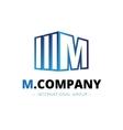 trendy isometric M letter logo vector image