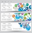 2017 calendar globe banners vector image vector image