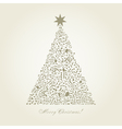 Musical Christmas tree vector image