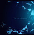 blue technology background with abstract shapes vector image