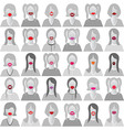 Lip smile set icons vector image