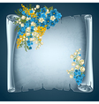 Old paper with flowers vector image vector image