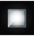background with carbon and speech bubble vector image vector image