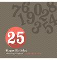 Birthday card design vector image