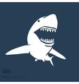 Danger Shark silhouettes set vector image vector image