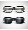 set of sunglasses and eyeglasses vector image