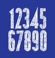 Stylish digits handwritten numerals vector image vector image