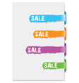 tab sheet background vector image
