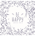 background flowers and swallows vector image