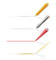 pencil pen writing vector image vector image