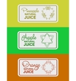 label for natural juice vector image