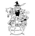 Doodle art Halloween vector image