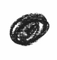 black wax crayon strokes isolated on white vector image
