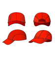 cap template vector image