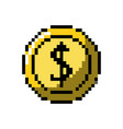 coin digital money to video game console vector image