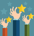 Feedback recognition concept Flat design vector image
