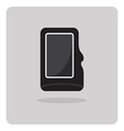 flat icon compact memory card vector image