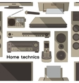 Home technics pattern vector image