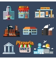Industrial education and transportation buildings vector image