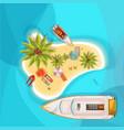 island beach top view vector image