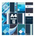 set of folder A4 form vector image