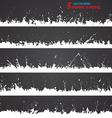 Set of grunge borders vector image