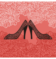 Shoes pattern background vector image
