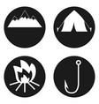 travel and tourism icons set in circle button vector image