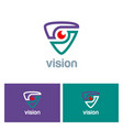 vision triangle technology logo vector image
