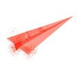 watercolor plane vector image