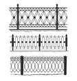 Metal wrought-iron gates grilles fences vector image