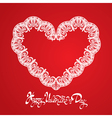 hearts lace 2 380 vector image