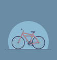 a bicycle flat style a bike vector image