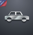 Car icon symbol 3D style Trendy modern design with vector image