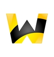 Creative yellow and black symbol letter W for your vector image